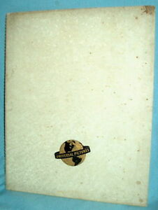 '40-'41 UNIVERSAL PICTURES Campaign Book HORROR