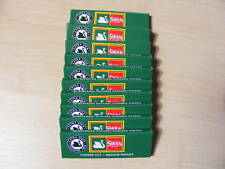 10 PACKETS OF SWAN GREEN REGULAR SIZE CIGARETTE PAPERS