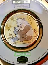 DYNASTY GALLERY ORIGINAL CHOKIN COLLECTION  FINE CHINA~JAPAN: PANDAS Plate 24k g