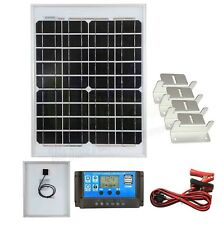 20w Mono Solar Panel Battery Charging Kit, Controller & Mounting Bracket SetK2