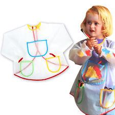 Neuf 1Pc Tablier enfant cuisine blouse peinture bavette repas imperméable Bavoir