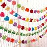 Papier suspendu 3D coeur guirlande anniversaire bannière mariage plafondTRFR