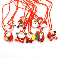 Christmas Jewelry LED Flashing Light Xmas Santa Claus Pendant Chain Necklace NEW