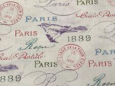 Fabric Paris in Bloom on Cream Cotton by the 1/4 yard BIN