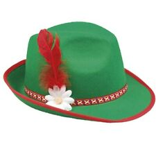 Miniaturhut Oktoberfest grün Tiroler Miniatur Hut Mini Hüte Fasching Karneval