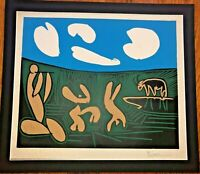 """PABLO PICASSO (1881-1973) """"BACCHANAL WITH FOUR CLOUDS"""", LINOCUT PRINT"""