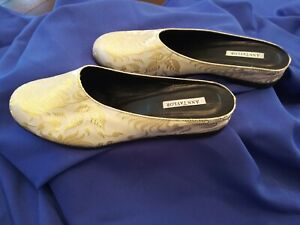 Ann Taylor Vintage 90s Satin Mule Flats size 8. Very good Pre-Owned condition