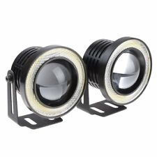 """2.5"""" Drl Car Projector Led Fog Light Cob Halo Angel Eyes Ring Bulbs White Lamps(Fits: Neon)"""
