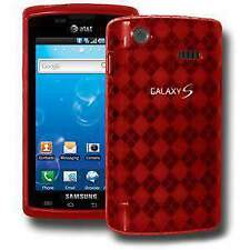 AMZER Luxe Argyle Skin Case Cover for Samsung Captivate i897 - Red