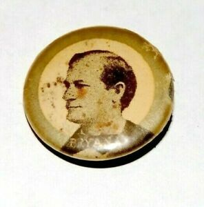 1896 WILLIAM JENNINGS BRYAN campaign pin pinback button political presidential