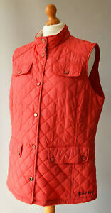 Ladies Jack Murphy Red Lightweight Lightly Quilted Gilet, Bodywarmer Size UK 18