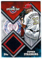 Stephen Strasburg Game Used Jersey Card 2021 Topps Opening Day Relics #ODRSS