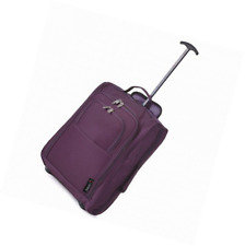 5 Cities 21 Inch Carry On Hand Luggage Trolley Bag, Plum