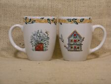 "Thomson China ""Birdhouse"" 12oz Coffee/Tea Cup Set of 2"