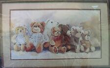 "Dimensions Teddy Bear Parade Cross Stitch Kit # 3613 Frame Size 22"" x12"" Vintage"