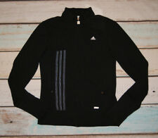 Adidas Climalite Ladies Black Track Top Jacket Size 12 Immaculate