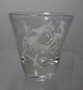 """Federal Glass company GAZELLE White pattern Whiskey Glass or Cordial - 2-3/4"""""""