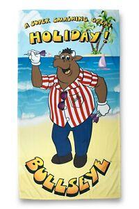 Bullseye TV Darts Super Smashing Great Official Beach Towel - FREE UK POSTAGE