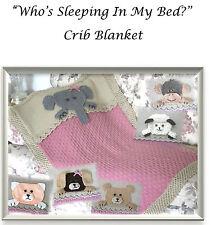 baby who is sleeping in my bed blanket aran knitting pattern