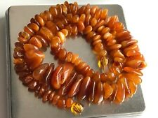 Natural Vintage Amber Beads Antique Baltic Old Necklace 37,68 gr.