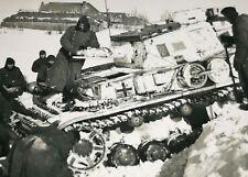 Original Foto (215) Panzer Tank Russland Tarnung Schnee selten