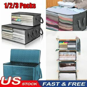 3pc Home Organizer Under Bed Storage Bag Container For Clothes Garments Blanket
