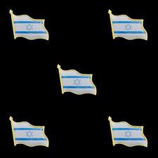 5PCS Israel Flag Pin Brooch Waving Country Badge Lapel Pins Metal Flag Badge