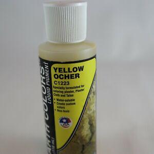 EARTH COLORS Yellow Ocher C1223 Liquid Pigment Terrain Paint 118ml Woodland