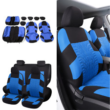 9PCS/Set Car Seat Covers Full Set Universal Washable For Autos Front+Rear 5 Sits