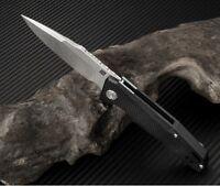 "Artisan Cutlery Predator Folding Knife 3"" D2 Tool Steel Blade Black G10 Handle"