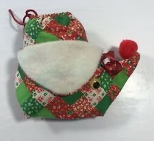Vintage Fabric Potpourri Holder Container Holiday Ornament Bird Quilted