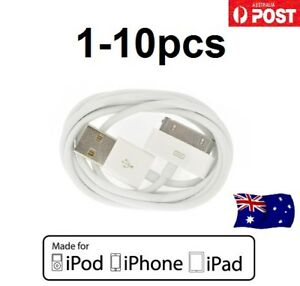1-10pc USB Data Sync Charger Cable For iPhone 4 4S 3GS iPad 2 3 iPod touch AU