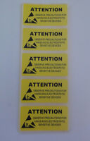 50-300 Yellow ESD Caution Labels Antistat 50 x 25mm Anti-static Warning Stickers