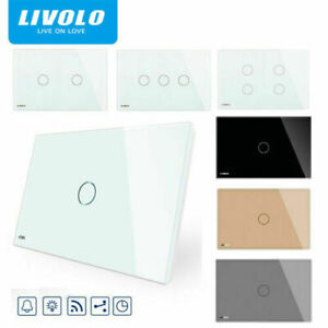 LIVOLO AU Standard 1/2/3/4Gang  1/2/3 Way Dimmer Touch Switch Light Switches