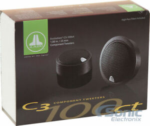 "JL AUDIO C3-100CT 1"" C3 SERIES COMPONENT TWEETERS *SOLD AS PAIR NEW"