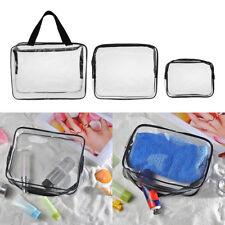 3/kit Clear PVC Cosmetic Bag Organizer Toiletry Makeup Travel Pouch Zipper