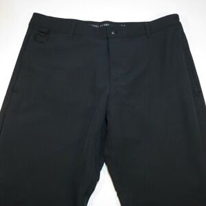 NEW BARBELL APPAREL MUSCLE ATHLETIC STRETCH PANTS Sz Mens 34 Black