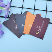 5PCS Anti Theft for RFID Credit Card Protector Blocking Sleeve Skin Case New