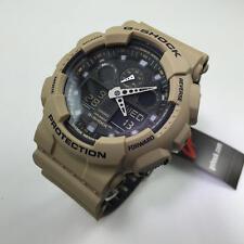 Casio G-Shock Sand Beige Digital Analog Watch GA100L-8A