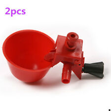 2Pcs Automatic Bird Coop Feed Poultry Chicken Fowl Drinker Water Drinking Cups