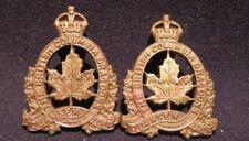British Columbia Dragoons Canada WWII Era Pair of Brass Collar Dogs