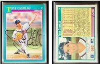 Tony Castillo Signed 1991 Score #582 Card Atlanta Braves Auto Autograph