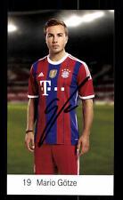 Mario Götze Autogrammkarte Bayern München 2014-15 Original Signiert+ C 2637