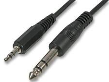 5m 6.35mm to 3.5mm Jack to Jack Audio Cable Stereo Plug 6.3mm 1/4 Lead