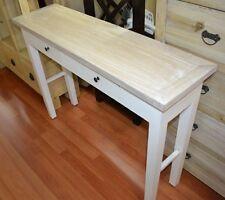 White Hamptons Narrow slim Entrance Hall console sofa Table whitewash AS IS
