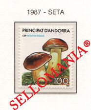1987 NATURALEZA BOLETUS EDULIS NATURE MUSHROOMS SETAS 201 ** MNH ANDORRA TC21912