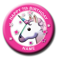 PERSONALISED UNICORN BIRTHDAY BADGES / FRIDGE MAGNET / MIRROR GIFT