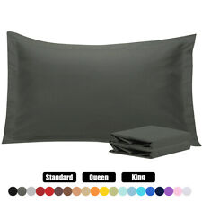 Super Soft Series Pillow Shams Set Of 2 Standard Queen King Size Pillow Cases