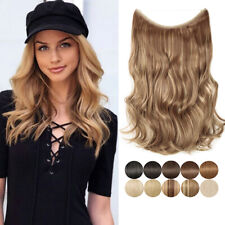 NEW Natural Halo Hair Extensions Invisible Wire Ombre Thick Hairpiece for Human