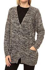 Damen-Strickjacken mit Stehkragen ohne Muster und Reißverschluss ... 452d2acf27